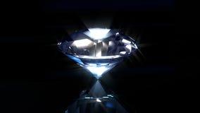 Blauwe diamant op zwarte vector illustratie