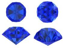 Blauwe diamant vastgestelde verschillende mening Royalty-vrije Stock Foto