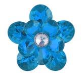 Blauwe diamantbloem stock afbeelding