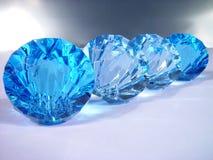 Blauwe diamanten Stock Afbeelding