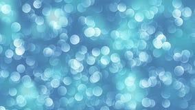 Blauwe die bokehachtergrond door neonlichten wordt gecreeerd Stock Afbeelding