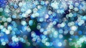 Blauwe die bokehachtergrond door neonlichten wordt gecreeerd 4K Royalty-vrije Stock Afbeeldingen