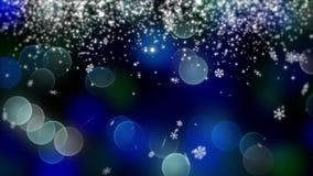 Blauwe die bokehachtergrond door neonlichten wordt gecreeerd 4K Stock Afbeelding