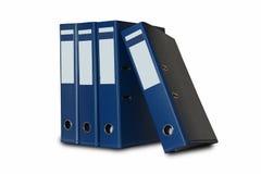 Blauwe die bureauomslag op wit wordt geïsoleerd Royalty-vrije Stock Fotografie