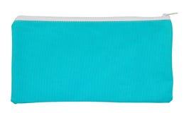 Blauwe die stoffenzak op wit wordt geïsoleerd Royalty-vrije Stock Foto
