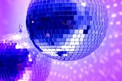 Blauwe discobollen Stock Afbeeldingen