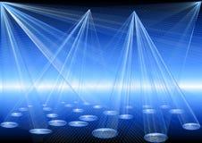 Blauwe discolichten Stock Foto's