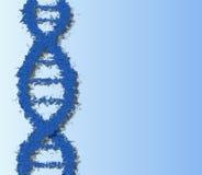 Blauwe DNA royalty-vrije illustratie