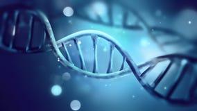 Blauwe DNAbundel vector illustratie