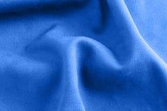 Blauwe doektextuur Royalty-vrije Stock Foto's