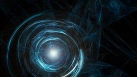 Blauwe donkere abstracte cirkel Stock Foto's