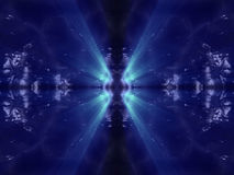 Blauwe donkere vreemde fantasie organische oppervlakte met blauw Stock Foto