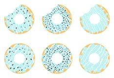Blauwe donuts Royalty-vrije Stock Foto's