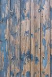 Blauwe doorstane houten muur royalty-vrije stock foto