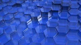 Blauwe Doorzichtige Zeshoeken Royalty-vrije Stock Afbeelding