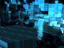 Blauwe Doorzichtige Zeshoeken Stock Foto's