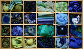 Blauwe doos stock afbeeldingen