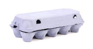Blauwe doos voor eieren. Royalty-vrije Stock Foto