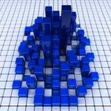 Blauwe dozenachtergrond Stock Afbeelding