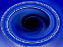 Blauwe Draaikolk - de Achtergrond van de Werveling Blackhole Royalty-vrije Stock Afbeelding