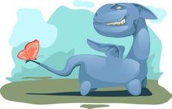 Blauwe draak stock illustratie