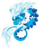 Blauwe draak Stock Afbeeldingen