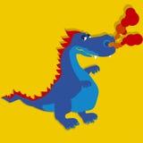 Blauwe Draak Stock Afbeelding