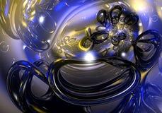 Blauwe draden 01 Royalty-vrije Stock Afbeeldingen