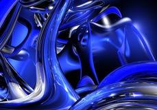 Blauwe draden 01 Royalty-vrije Stock Fotografie