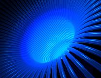 Blauwe draden Stock Afbeeldingen