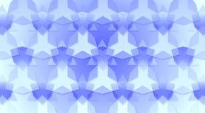Blauwe Driehoeken en Zeshoekentextuur Als achtergrond royalty-vrije illustratie