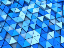Blauwe driehoekenachtergrond Stock Fotografie