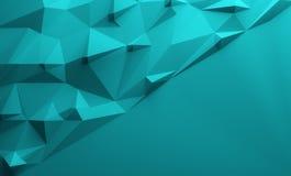 Blauwe driehoekige lowpoly achtergrond Royalty-vrije Stock Foto