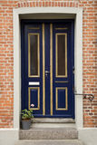Blauwe Dubbele Deur Royalty-vrije Stock Afbeelding
