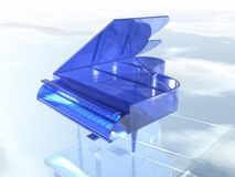 Blauwe duidelijke glaspiano Royalty-vrije Stock Afbeeldingen