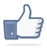 Blauwe duim omhoog Royalty-vrije Stock Fotografie
