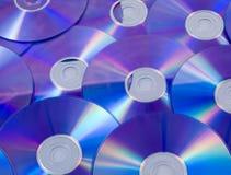Blauwe dvdachtergrond Stock Foto's