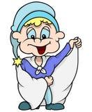 Blauwe Dwerg met Lange Laag royalty-vrije illustratie