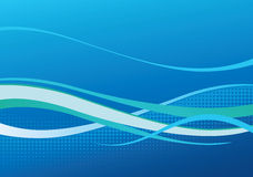 Blauwe dynamische achtergrond Stock Afbeeldingen