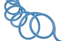 Blauwe elektrische die kabel in elektroinstalation wordt gebruikt Royalty-vrije Stock Afbeelding