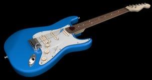Blauwe Elektrische Gitaar Stock Foto's