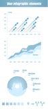 Blauwe elementen Infographic Royalty-vrije Stock Foto's