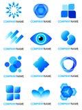 Blauwe embleeminzameling Stock Afbeeldingen