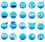 Blauwe Emoticon royalty-vrije stock foto