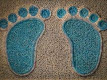 Blauwe en bruine mat stock illustratie