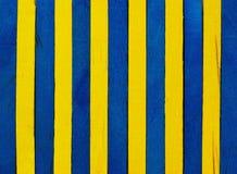 Blauwe en gele houten achtergrond Royalty-vrije Stock Afbeeldingen