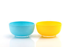 Blauwe en gele kop Stock Foto's