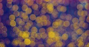 Blauwe en gele lichten zoals een achtergrond Stock Afbeelding