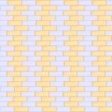 Blauwe en gele naadloze bakstenen muur Royalty-vrije Stock Fotografie