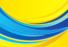 Blauwe en gele samenstelling als achtergrond Stock Foto's